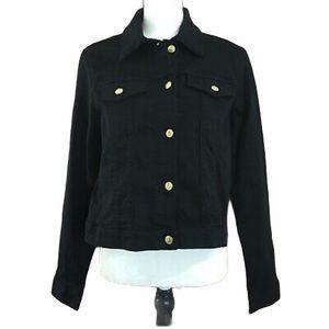 NWT Michael Michael Kors denim jacket gold black